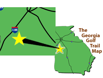 Georgia Golf Trail Map