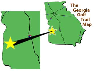 Georgia Golf Trail Map